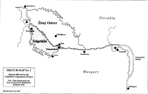 SKETCH–MAP No. 1Region affected by the Gabčíkovo–Nagymaros ProjectN.B.: This sketch–map has been prepared for illustrative purposes only